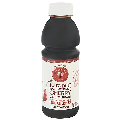 Cherry Bay Orchards Cherry Concentrate 100% Tart Montmorency - 16 Fl. Oz.