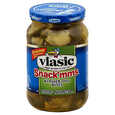 Vlasic Snackmms Dill Kosher - 16 Fl. Oz.