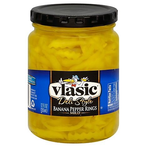 Vlasic Mild Banana Pepper Rings - 12 Fl. Oz.