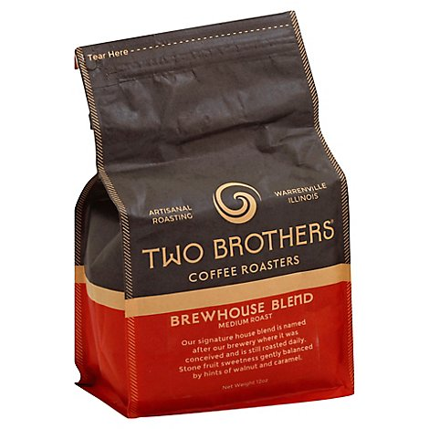 Two Brothers Coffee Roasters Brewhouse Blend Whole Bean Coffee - 12 Oz