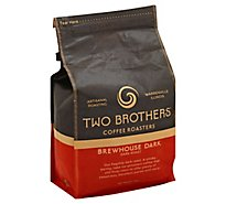 Two Brothers Coffee Roasters Brewhouse Dark Whole Bean Coffee - 12 Oz