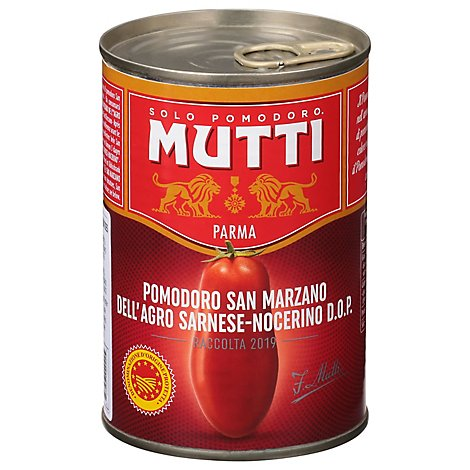 Mutti Tomato San Marzano PDO Whole Peeled - 14 Oz