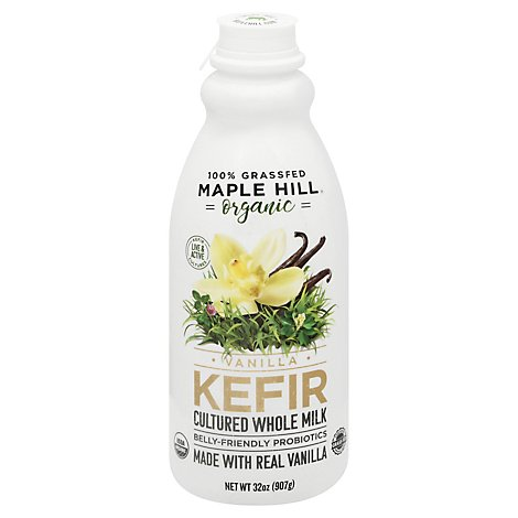 Maple Hill Milk Vanilla Kefir Bottle - 32 Oz