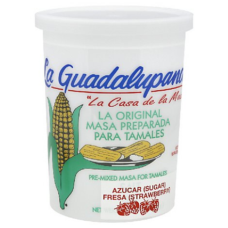 La Guadalupana Masa For Tamale Pre Mixed Sugar Strawberry - 5 Lb