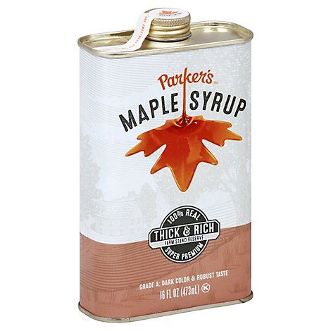 Parkers Syrup Dark Maple - 16 Oz