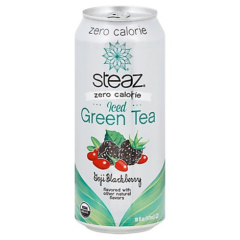 Steaz Zero Calorie Goji Blackberry Iced Green Tea - 16 Fl. Oz.