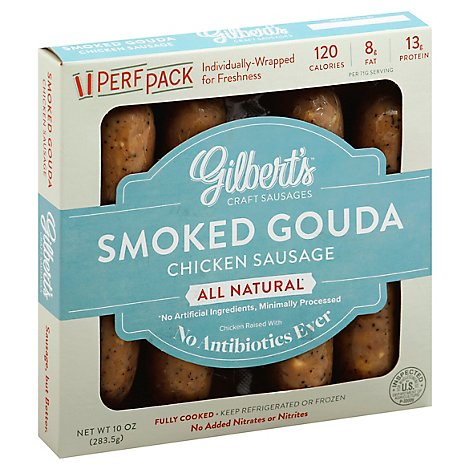 Gilberts Chicken Sausage Gouda - 10 Oz