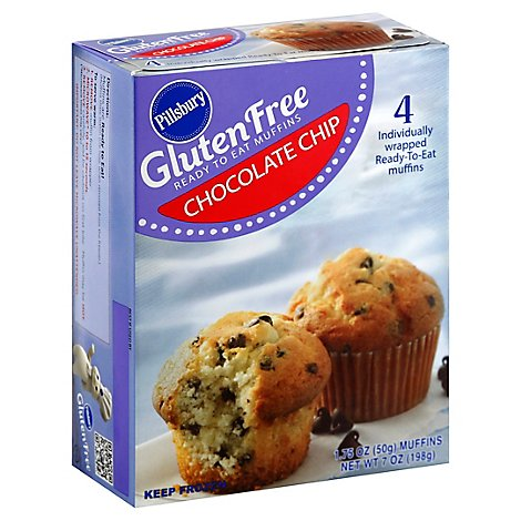 Pillsbury Gluten Free Chocolate Chip Muffins, 7 Oz - 7Oz