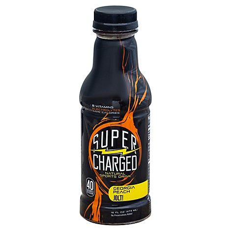 Super Charged Sport Drink Georgia Peach Bottle - 16 Fl. Oz.