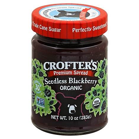 Crofters Organic Spread Premium Seedless Blackberry - 10 Oz