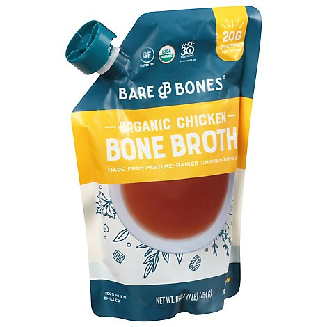 Bare Bones Bone Broth Classic Chicken - 16 Oz