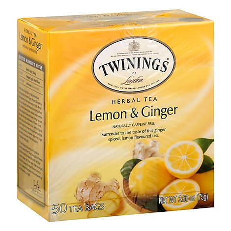 Twining Tea Tea Lemon Ginger - 50 Bag
