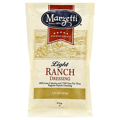 Mazetti Light Ranch Dressing Pouch - 1.5 Oz