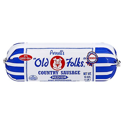 Old Folk Med Roll Sausage - 16 Oz