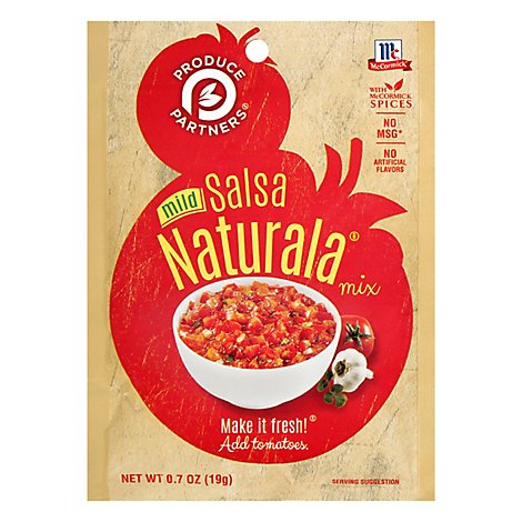 McCormick Produce Partners Mix Mild Salsa Naturala - 0.7 Oz