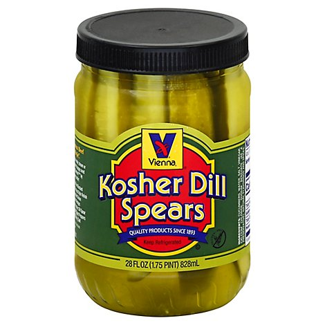 Vienna Kosher Pickle Spears - 28 Oz