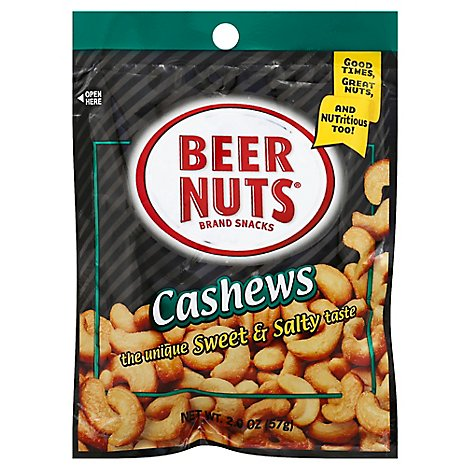 Taylors Beer Nuts Cashew - 2 Oz