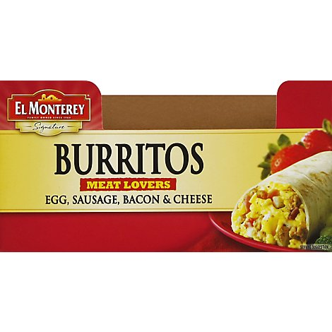 El Monterey Signature Burrito Meat Lovers - 4.5 Oz