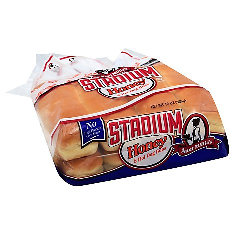 Aunt Millies Homestyle Honey Hot Dog Buns 8 Count