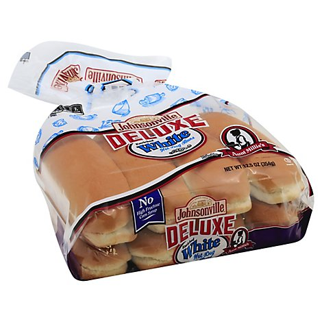 Aunt Millies Deluxe White Hot Dog Buns 8 Count