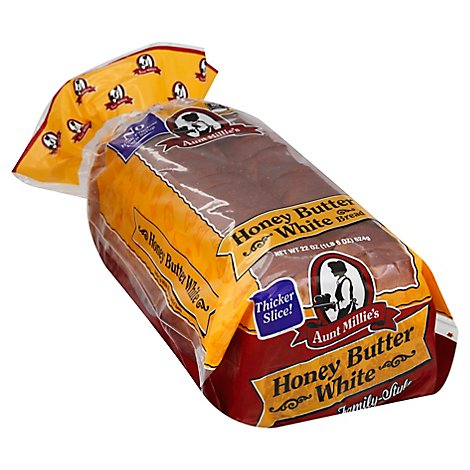 Aunt Millies Family Style Honey Butter White Bread 22 oz.