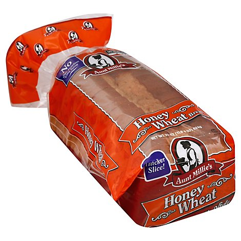 Aunt Millies Family Style Honey Wheat Bread 22 oz.