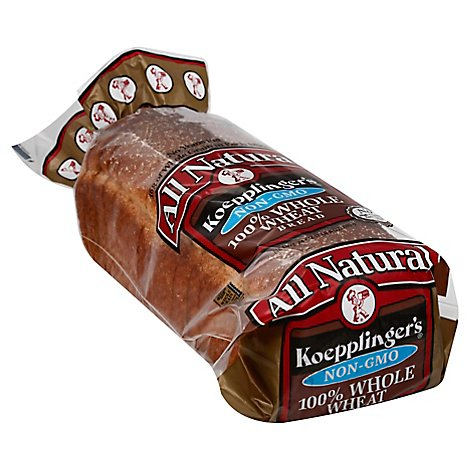 Koepplingers Recipe 100% Whole Wheat Bread 24 oz.