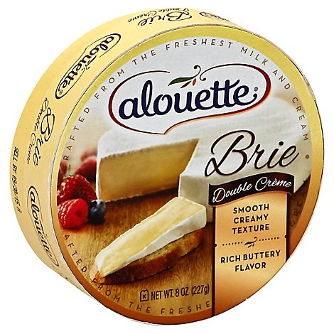 Alouette Double Creme Brie Cheese - 8 Oz