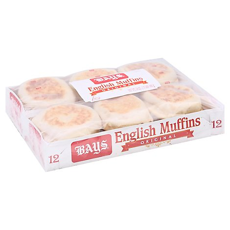 Bays English Muffins 42/49 - 12 Count