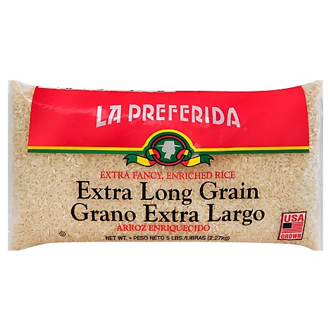 La Preferida Rice Extra Long Grain - 5 Lb