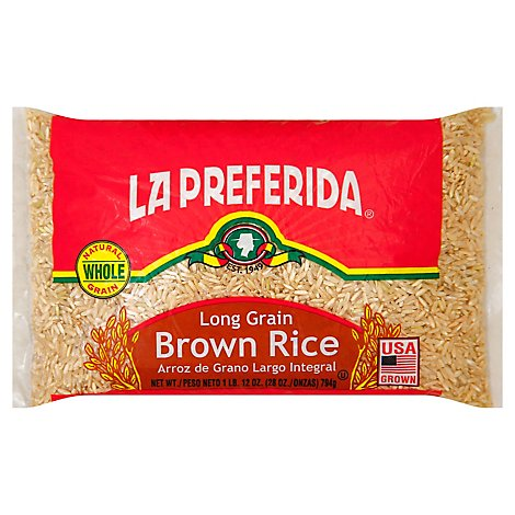 La Preferida Long Grn Brown Rice 28 Oz - 28 Oz