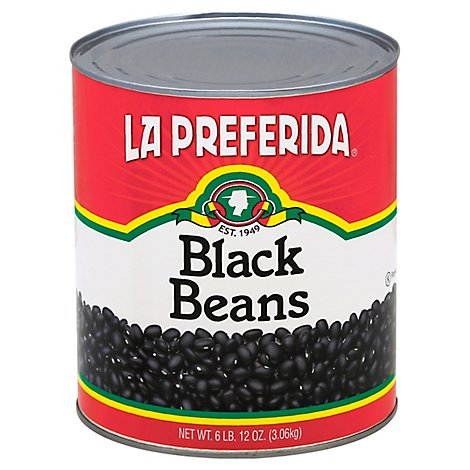 La Preferida Black Beans, 108 Oz - 108 Oz