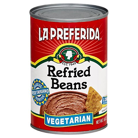 La Pref Refried Beans Vegetarian - 16 Oz