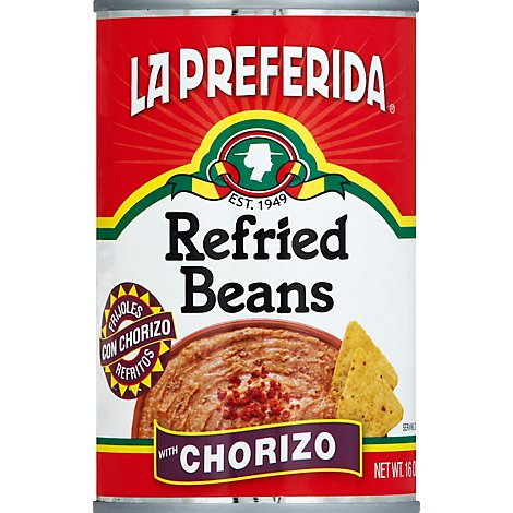 La Preferida Beans Refried Chorizo - 16 Oz