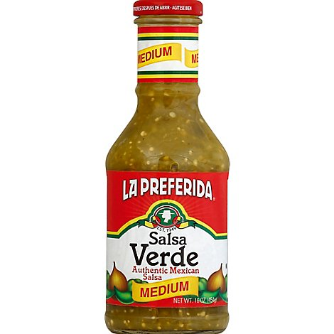 La Preferida Salsa Verda, Medium, 16.0 Oz - 16.4 Oz