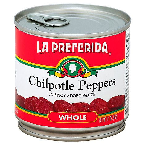 La Preferida Whole Chipotle Peppers 12 Cans 11 Oz - 11 Oz