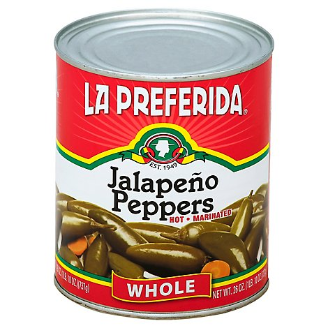 La Preferida Jalapeno Peppers Whole Hot - 26 Oz