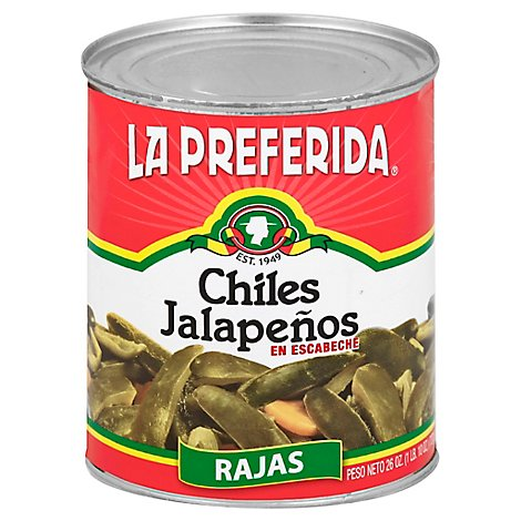 La Preferida Jalapeno Peppers Whole Sliced - 26 Oz