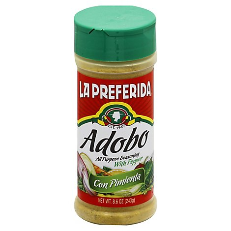 La Preferida Seasoning All Purpose, With Pepper, 8.0 Oz - 8.5 Oz
