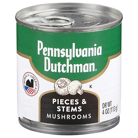 Pennsylvania Dutchman Sliced Mushroom Tems & Pieces Glass Jar - 6 Oz