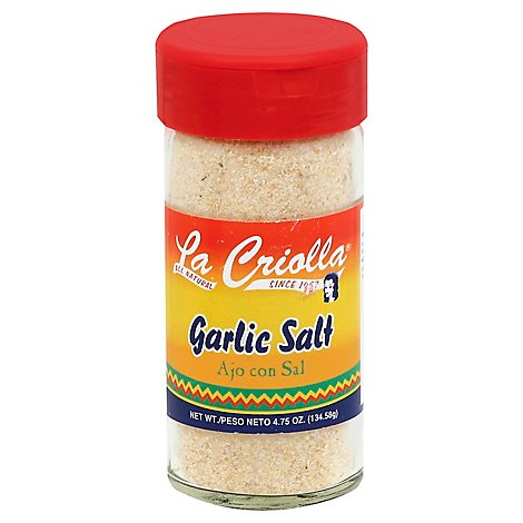 La Criolla Garlic Salt, 4.75 Oz - 4.75 Oz