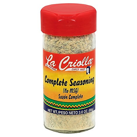 La Criolla No Msg Grill Seasoning 3 Oz - 3 Oz
