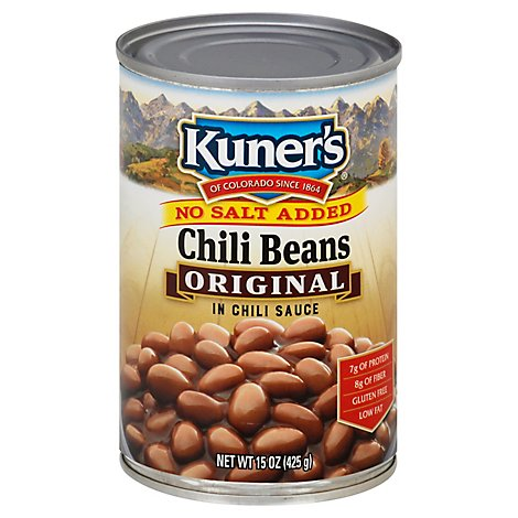 Kuners No Salt Added Chili Beans - 15 Oz
