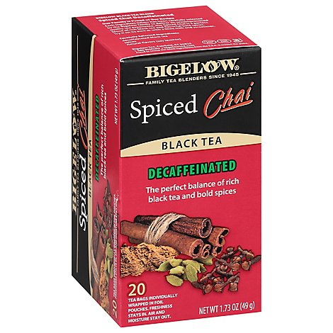 Bigelow Spiced Chai Dcf - 20 Count