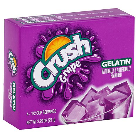 Crush Grape Gelatins - 2.75 Oz