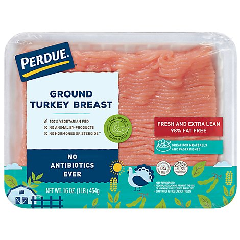 PERDUE Turkey Breast Ground Fresh and Extra Lean 98% Fat Free - 16 Oz