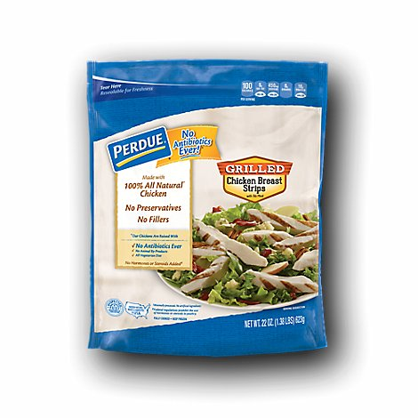 PERDUE Chicken Breast Strips Grilled Fully Cooked - 22 Oz