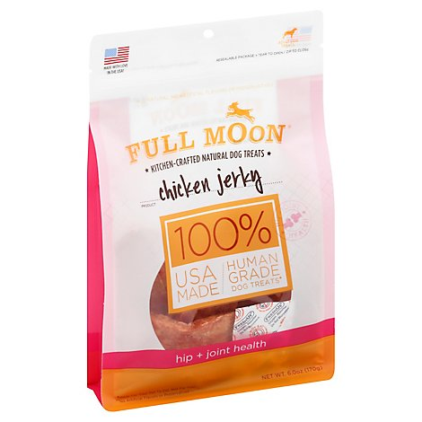 Full Moon Dog Treats Chicken Jerky Hip + Joint Health - 6 Oz