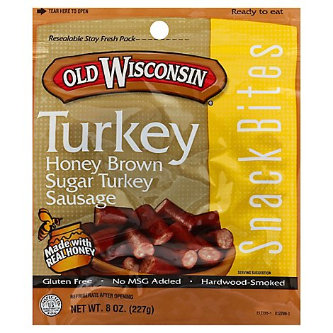 Old Wisconsin Brown Sugar Turkey Bites - 8 Oz