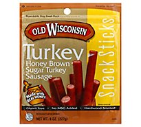 Old Wisconsin Honey Turkey Snack Stick - 8 Oz
